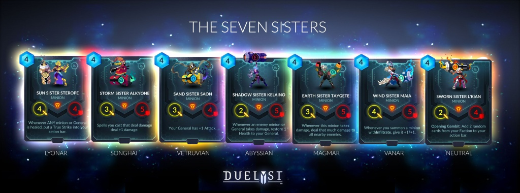 Duelyst - Seven SIsters Cards