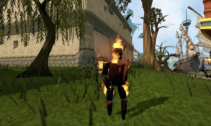 Woody, the Firemaking Skill Pet.