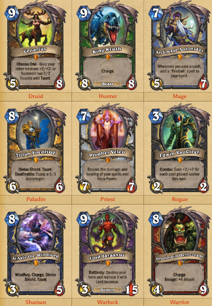 hearthstone-class-legendaries