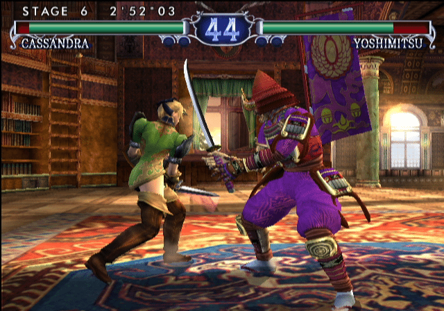 90963-soulcalibur-ii-gamecube-screenshot-cassandra-attacking-yoshimitsus