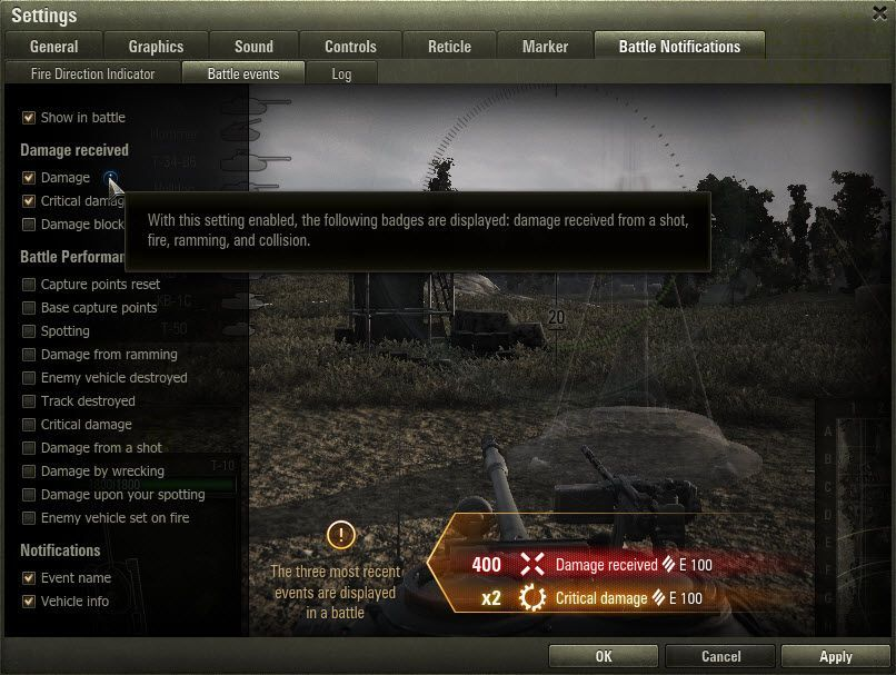 World of Tanks UI