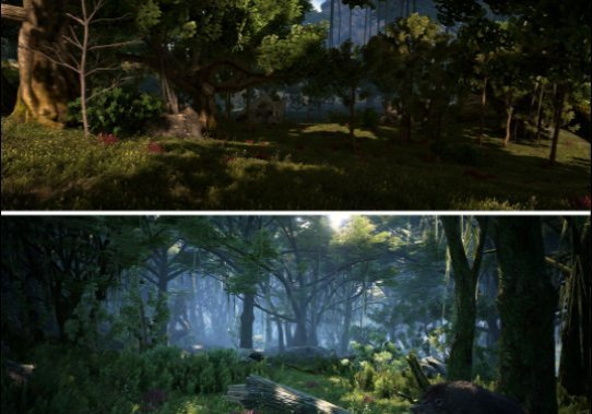 Dark and Light Graphics Comparison