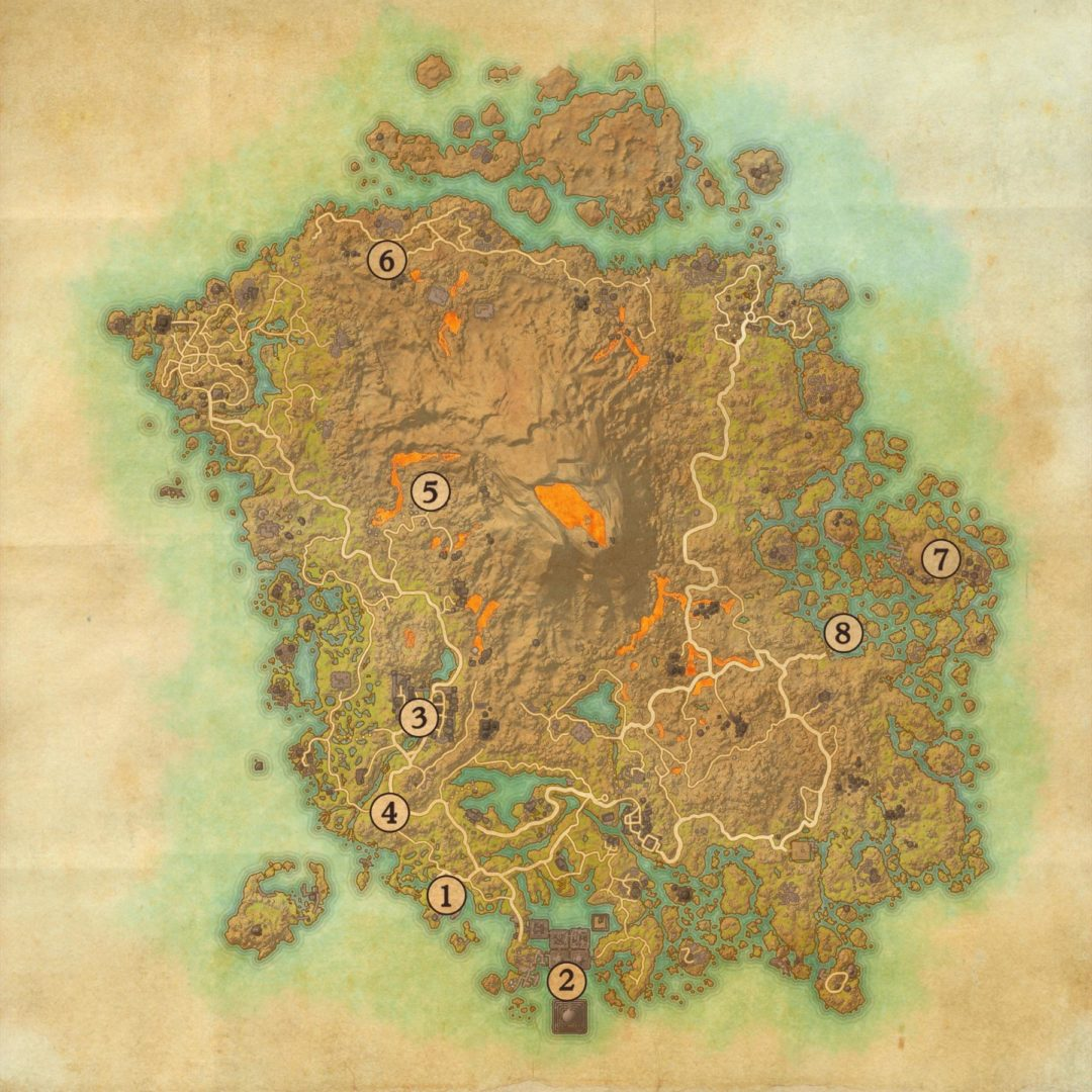 Elder Scrolls Online Morrowind Points of Interest Map