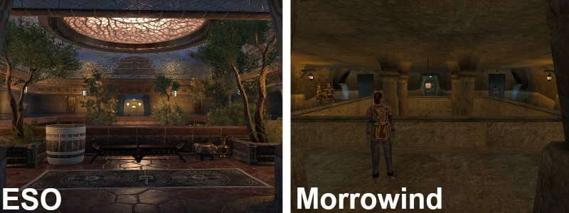 Elder Scrolls Online Morrowind Vivec City Building Interior VS
