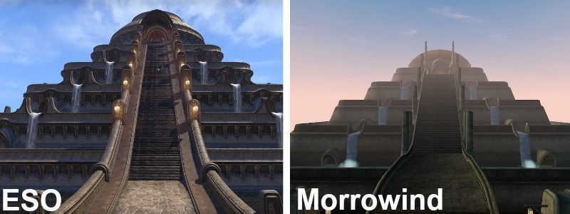 Elder Scrolls Online Morrowind Vivec City Palace VS