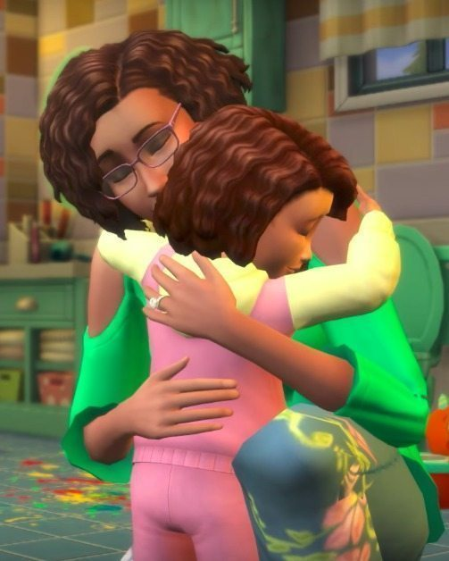 The Sims 4 Parenthood Hug Toddler