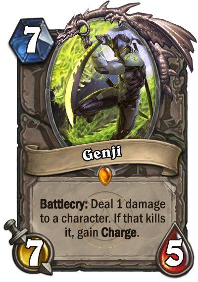 Overwatch Hearthstone card