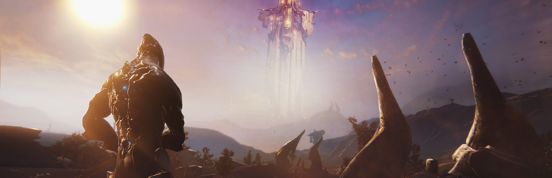 Warframe Open world Plains of Eidolon Excalibur