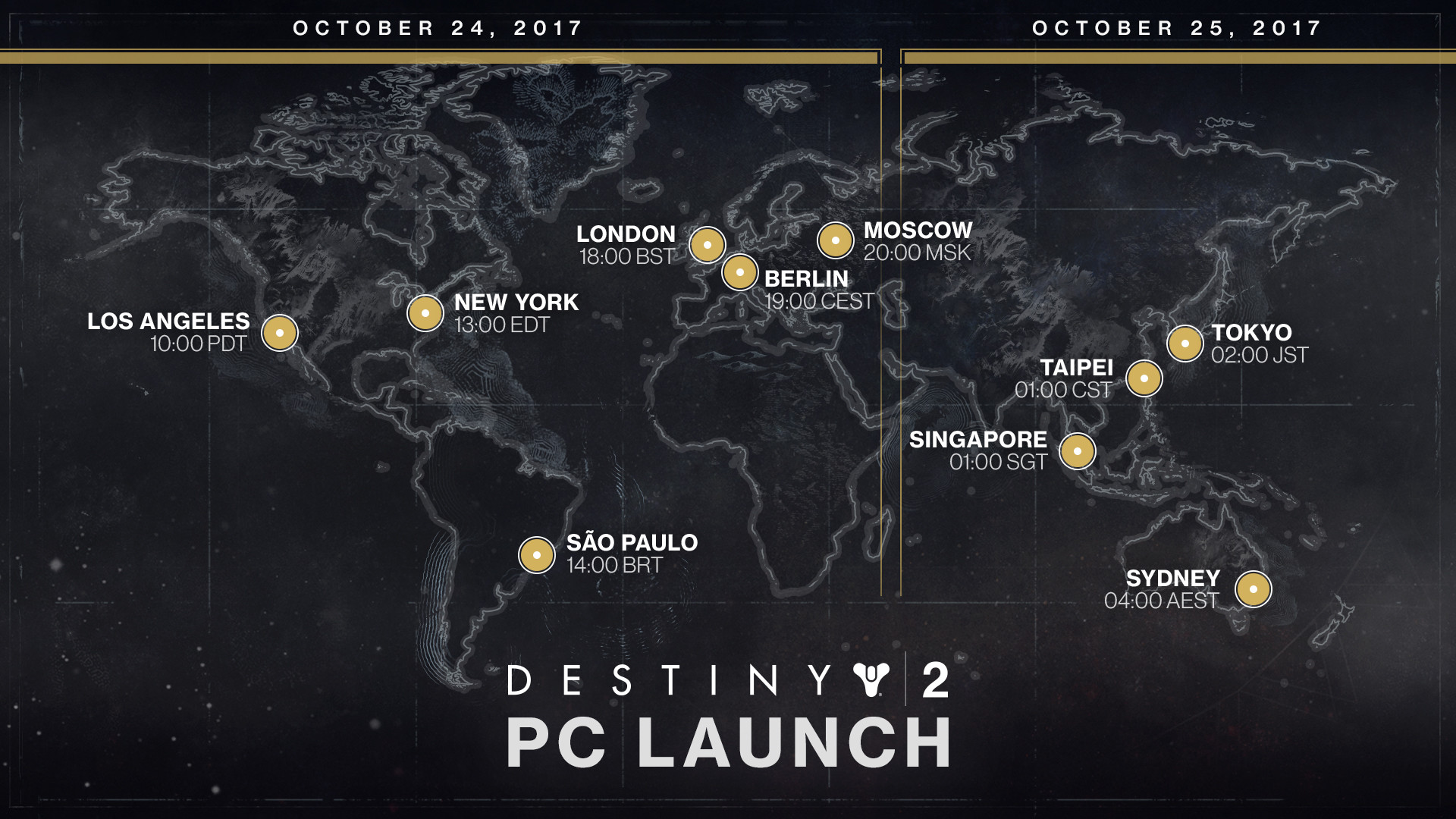 Destiny 2 PC Requirements, Launch Times Announced