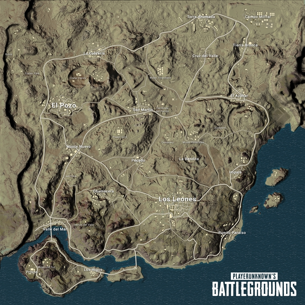 PlayerUnknown's Battlegrounds Desert Level Titled Miramar
